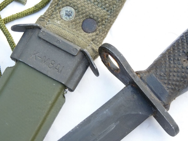 North Korean made M1 carbine M4 bayonet and scabbard SOLD